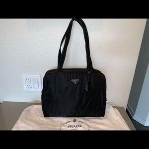 Authentic Prada velo locking shopper tote satchel
